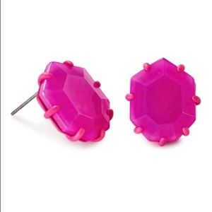 Kendra Scott Morgan Matte Hot Pink Stud Earrings